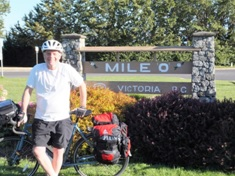 Mile 0 in Victoria... 6 summers, 9 D-Camps and 10,000 kms. to go!